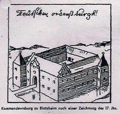 ALte Zeichnung der Burg